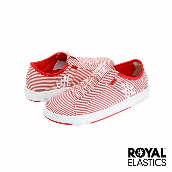 Royal Elastics Icon Washed 經典運動鞋-白x紅條紋