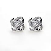 耳環 925純銀鑲鑽-流行時尚生日母親節禮物女耳針73gt167【時尚巴黎】