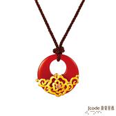 J'code真愛密碼  富貴芙蓉黃金/瑪瑙/水晶中國結項鍊