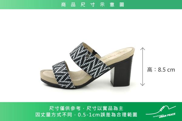 Hush Puppies 涼鞋 女鞋 黑/白 no058