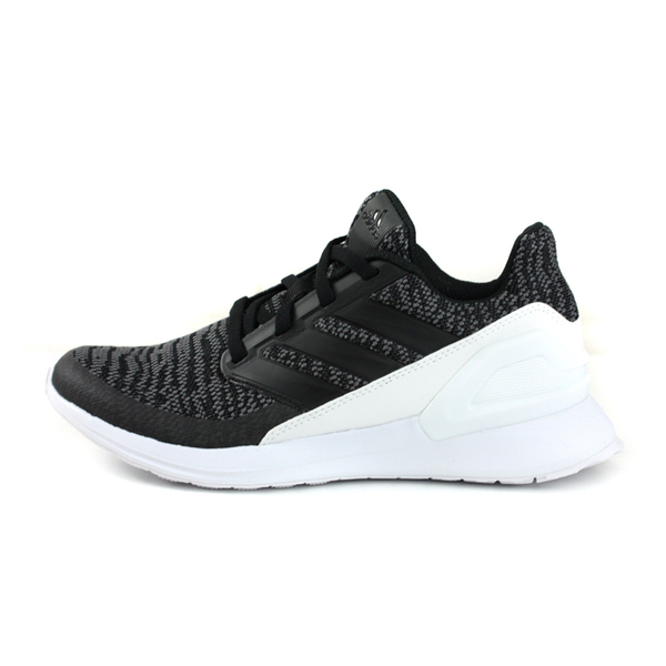 adidas RapidaRun KNIT J 跑鞋 運動鞋 黑色 大童 童鞋 D97002 no713