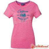 Wildland 荒野 0A61683-22蜜粉紅 女雙色印花排汗上衣 抗UV/涼爽散熱/舒適柔軟/運動休閒/旅遊