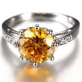 水晶戒指 925純銀-典雅氣質優雅百搭生日聖誕節禮物女飾品73lj312【時尚巴黎】