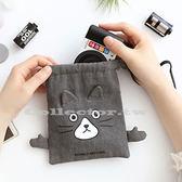 【超取199免運】韓版俏皮卡通棉布束口袋-M號 旅行收納袋 行李抽繩袋 衣服小物收納整理袋