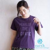 ❖ Autumn ❖ 落肩標語T恤 - earth music&ecology
