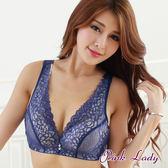 PinkLady布拉格之戀 爆乳無鋼圈B罩單件內衣8610(藍)