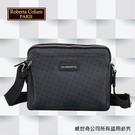 【Roberta Colum】諾貝達百貨專櫃 男仕背包 橫式側背包(8903黑色)【威奇包仔通】