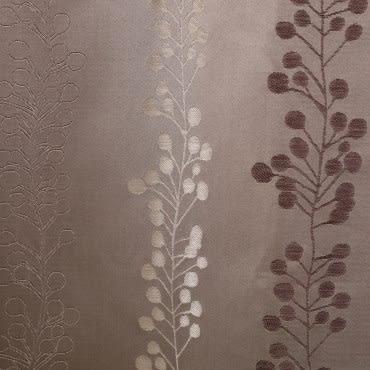 HOLA 蔓綺緹花雙層遮光半腰窗簾-棕 270x165cm