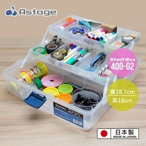 日本 Astage Shelf Box 多功能2層收納箱 400-G2型