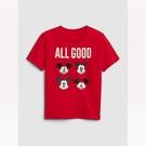 Gap男幼Gap x Disney迪士尼系列棉質舒適圓領短袖T恤548757-正紅色