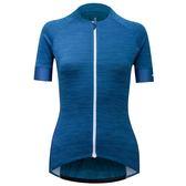 【亞特力士ATLAS】 女舒適款短袖車衣-條紋‧藍 24℃~30℃ WJF-312-BU