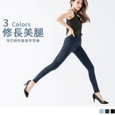 OB嚴選《BA2257-》修長美腿雪花刷色鬆緊窄管褲.3色--適 S~XL