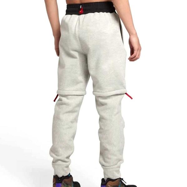 NIKE KYRIE M NK PANT HYBRID 男款灰色兩件式可拆棉質縮口長褲-NO.AJ3390050