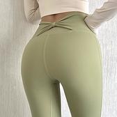 瑜伽褲 褲子女夏季新款高腰提臀緊身褲蜜桃臀跑步褲健身褲【八折搶購】