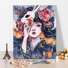 數字油彩畫diy油畫人物填色畫成人手工畫客廳臥室裝飾畫花宴少女 ATF 夏季狂歡