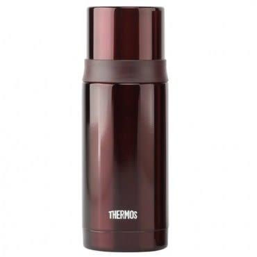 THERMOS膳魔師 不鏽鋼真空彈蓋保溫瓶保溫杯350ml-咖啡色 FEI-351