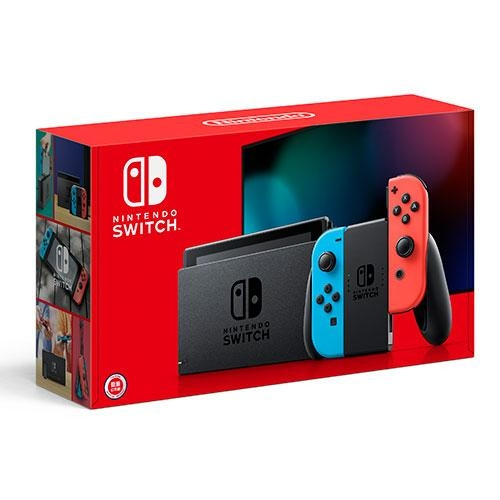 Nintendo Switch 2019新款主機-紅藍手把【愛買】