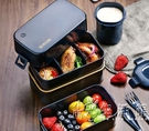輕便飯盒上班族微波爐可用加熱便當盒可愛少女日式減脂餐餐盒套裝 小時光生活館