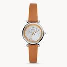 FOSSIL 三針棕色皮革手錶 ES4835