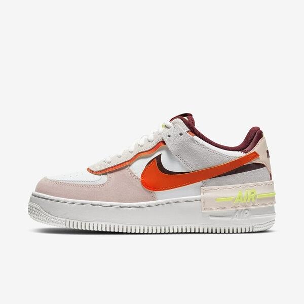 Nike Wmn Af1 Shadow [CU8591-600] 女鞋 運動 休閒 舒適 輕量 柔軟 穿搭 白 橘