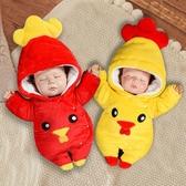限定款嬰兒長袖兔裝 初生嬰兒鋪棉連身衣服秋冬季寶寶外出抱衣加厚保暖新生兒套裝冬天棉衣