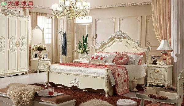 【大熊傢俱】909 韓戀 法式床 五尺床 雙人床 床台 歐式床 床架 另售六尺床 妝台