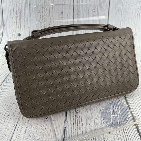 BRAND楓月 Bottega Veneta BV 經典 棕色 可可裸色 皮革 護照包 編織 收納包 錢包 錢夾 多功能