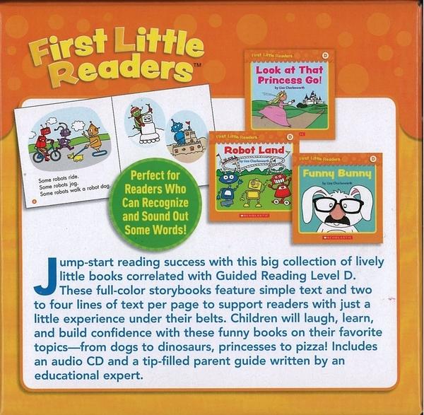 【麥克書店】★ FIRST LITTLE READERS★GUIDED READING 《LEVEL D》/25本小書+1CD