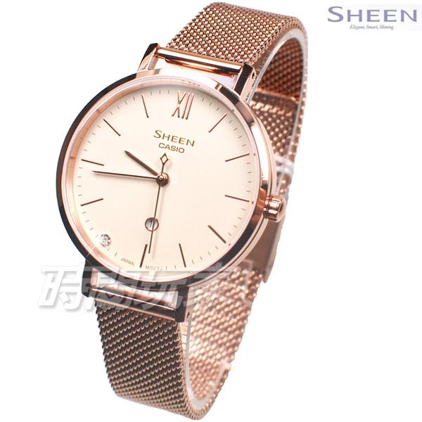 CASIO 卡西歐 SHEEN 優雅質感氣息 SHE-4539CGM-4A 施華洛世奇水晶 女錶 SHE-4539CGM-4AUDF
