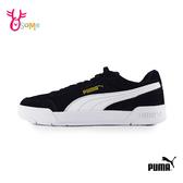 PUMA板鞋 女鞋 休閒運動鞋 麂皮 記憶鞋墊 百搭款 黑金 J9586#◆OSOME奧森鞋業