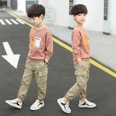童裝男童秋裝套裝2019年新款秋季洋氣兒童加絨加厚十歲男孩工裝潮