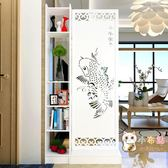中式現代簡約家具屏風隔斷客廳歐式鏤空玻璃座屏玄關屏風隔斷櫃WY