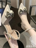 一字扣帶涼鞋女2020新款ins潮鞋百搭韓版夏季高跟鞋仙女風女鞋子 KP219『美鞋公社』