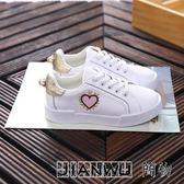 女童鞋白色板鞋真皮透氣休閒運動