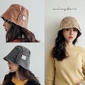 現貨-MIUSTAR 抽鬚車線布標水洗斜紋布漁夫帽(共3色)【NJ0330】