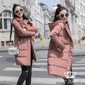 鋪棉外套 女裝中長款加厚韓版寬松保暖面包服