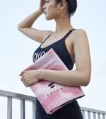 TOYOGI便攜式超薄款麂皮瑜伽墊初學者女防滑旅行可折疊瑜珈毯鋪巾