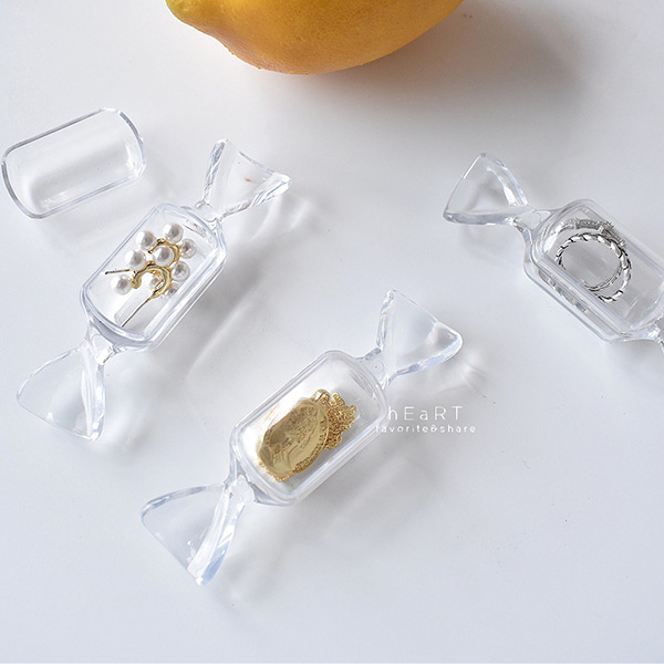 壓克力糖果造型飾品收納盒 飾品盒 戒指盒 吊飾盒