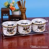 禮品陶瓷調味瓶罐調味罐套裝歐式調料盒三件套裝鹽罐廚房用品 阿卡娜