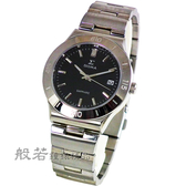 SIGMA 簡約時尚 藍寶石鏡面時尚腕錶-銀x黑