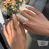百搭配開口戒指時尚個性食指指環【小檸檬3C】