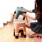 換鞋凳小凳子塑料板凳兒童凳卡通加厚腳踏寶寶矮凳【匯美優品】