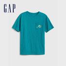 Gap 男童 創意風格圓領短袖T恤 573651-綠色