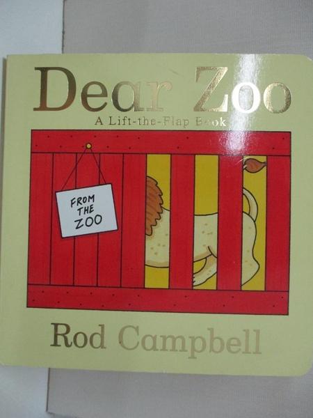 【書寶二手書T6/原文小說_ICX】Dear Zoo: A Lift-the-flap Book_Campbell, Rod/ Campbell, Rod (ILT)