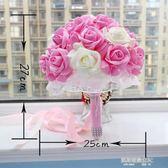 韓式新娘手捧花仿真婚禮結婚慶鮮花小喬純白花嫁cos捧花拍攝道具  凱斯盾數位3c