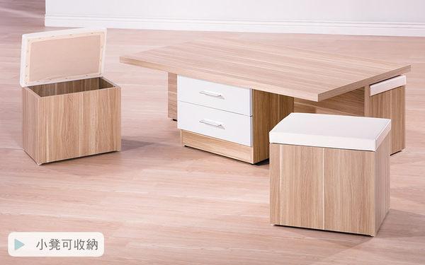【森可家居】羅莎雙色玻璃大茶几 7HY313-1 木紋質感 北歐風 MIT台灣製造