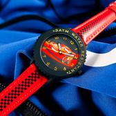 Disney 迪士尼 / MK-14110R / 汽車總動員 閃電麥坤 日本機芯 兒童錶 卡通錶 皮革手錶 黑x紅 32mm