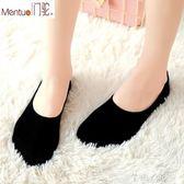 船襪女襪子女淺口可愛秋季薄款純棉硅膠防滑黑色低幫隱形短襪 芊惠衣屋