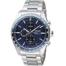 精工SEIKO潮流時尚太陽能計時腕錶 V176-0AZ0B SSC727P1 藍
