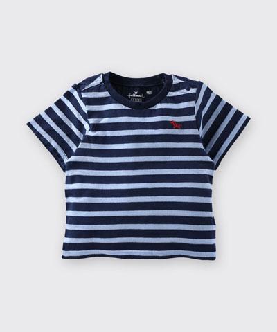 Hallmark Babies 小馬藍色間條條紋短袖上衣 HD1-R13-04-KB-PN